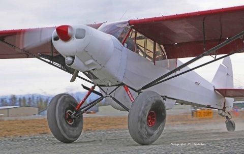 """STC du train Alaskan Landing Gear,et du kit complet roues/freins en 6"""" pour Piper PA-18 SuperCub validés par la FAA"""